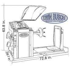 Twin Busch ® Equiibradora de ruedas para camiones