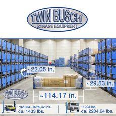 Twin Busch ® Clear floor Pro-Line 9200 lbs.